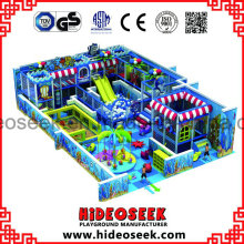 Sea Theme PVC Galvanized Pipe Children Soft Play Ground Equipment